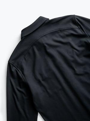 Men's Black Fusion Overshirt zoomed shot of back