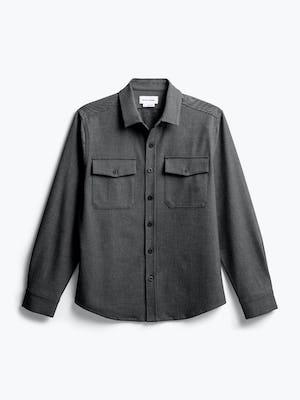 men's charcoal tweed fusion overshirt flat shot of front