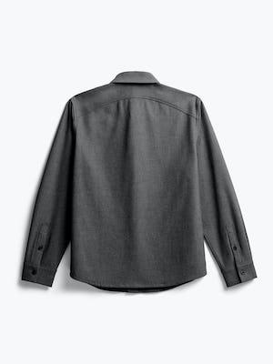 men's charcoal tweed fusion overshirt flat shot of back