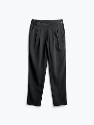 women's black swift drape pant flat shot of front