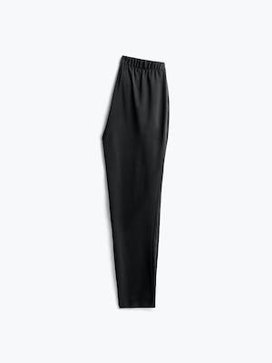 women's black swift drape pant flat shot of back folded