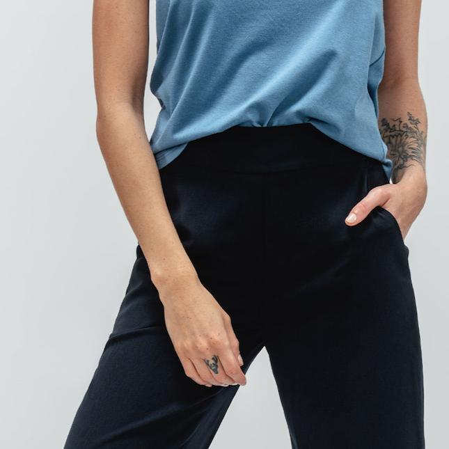 woman wearing swift wide leg pant