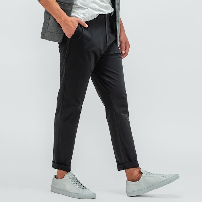 man wearing pace chinos