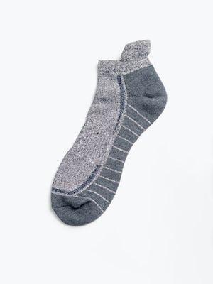 marl/charcoal atlas ankle socks flat shot of sock