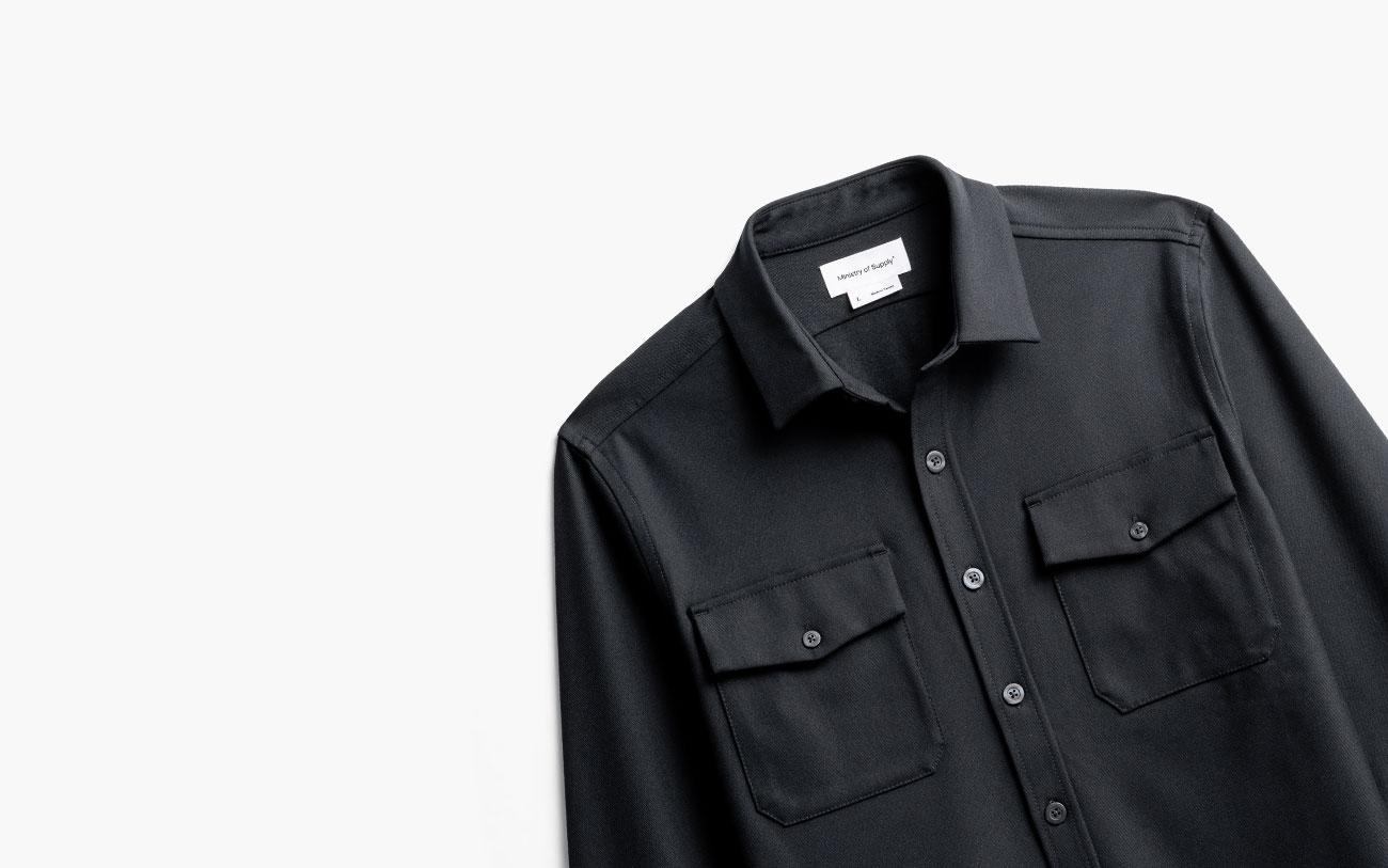 men's black fusion overshirt
