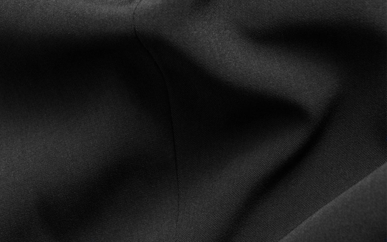 close up of black swift fabric