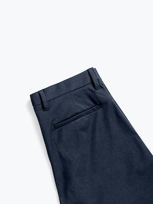 men's navy kinetic shorts zoomed shot of back folded