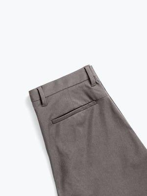 Men's Charcoal Heather Kinetic Shorts zoomed shot of back folded