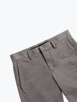 Men's Charcoal Heather Kinetic Shorts zoomed shot of front