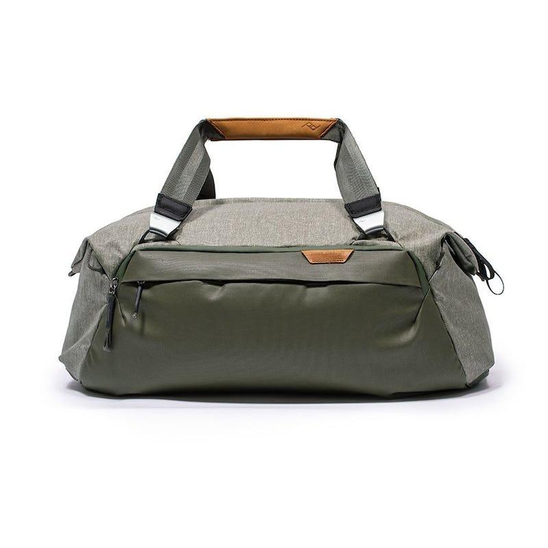 Image of green duffel bag