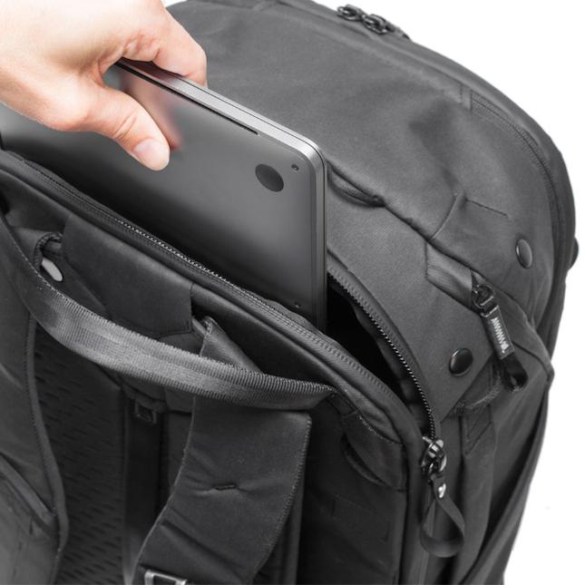 Image of Peak Design Travel Backpack in black open