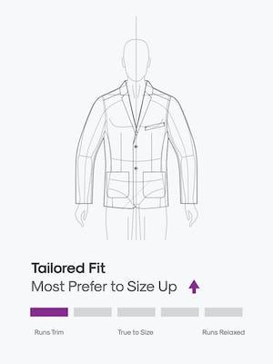 design sketch of men's kinetic suit jacket
