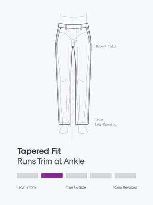 design sketch of men's pace tapered chinos