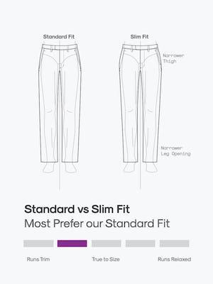 design sketch of men's velocity pants