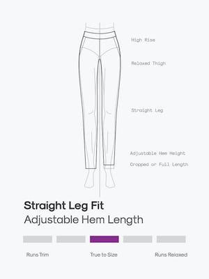 design sketch of women's fusion ponte straight leg pant