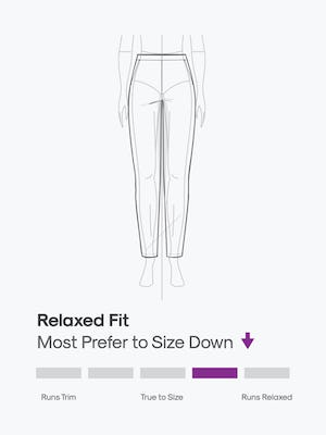 design sketch of women's kinetic pull on pant