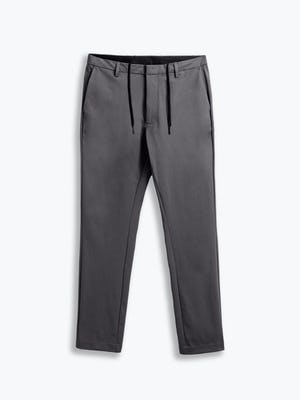 men's charcoal kinetic tapered pant flat shot of front