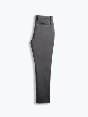 men's charcoal kinetic tapered pant flat shot of back folded