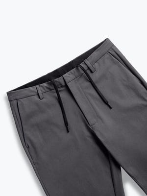 men's charcoal kinetic tapered pant zoomed shot of front