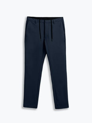men's navy kinetic tapered pant flat shot of front