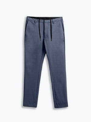 men's slate blue kinetic tapered pant flat shot of front