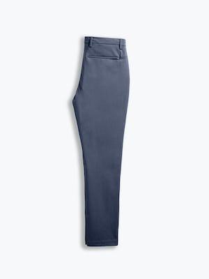 men's slate blue kinetic tapered pant flat shot of back folded