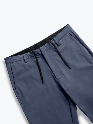 men's slate blue kinetic tapered pant zoomed shot of front