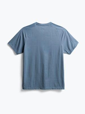 men's stone blue composite merino active tee flat shot of back