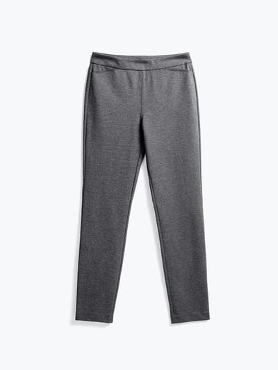 women's charcoal heather fusion straight leg pant flat shot of front