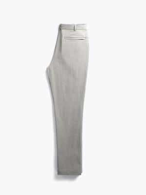 men's light khaki pace tapered chino flat shot of back folded