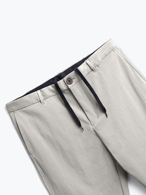 men's light khaki pace tapered chino zoomed shot of front