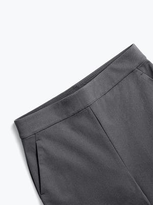 women's charcoal kinetic pull-on pant zoomed shot of front