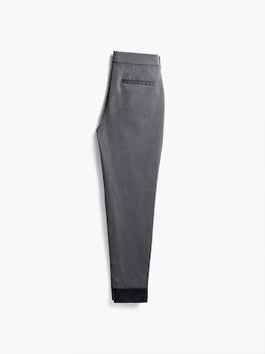 women's charcoal kinetic pull-on pant flat shot of back folded