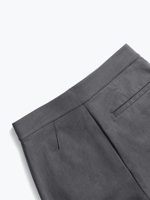 women's charcoal kinetic pull-on pant zoomed shot of back