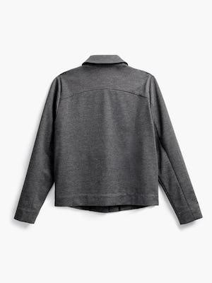 women's charcoal heather fusion chore coat flat shot of back