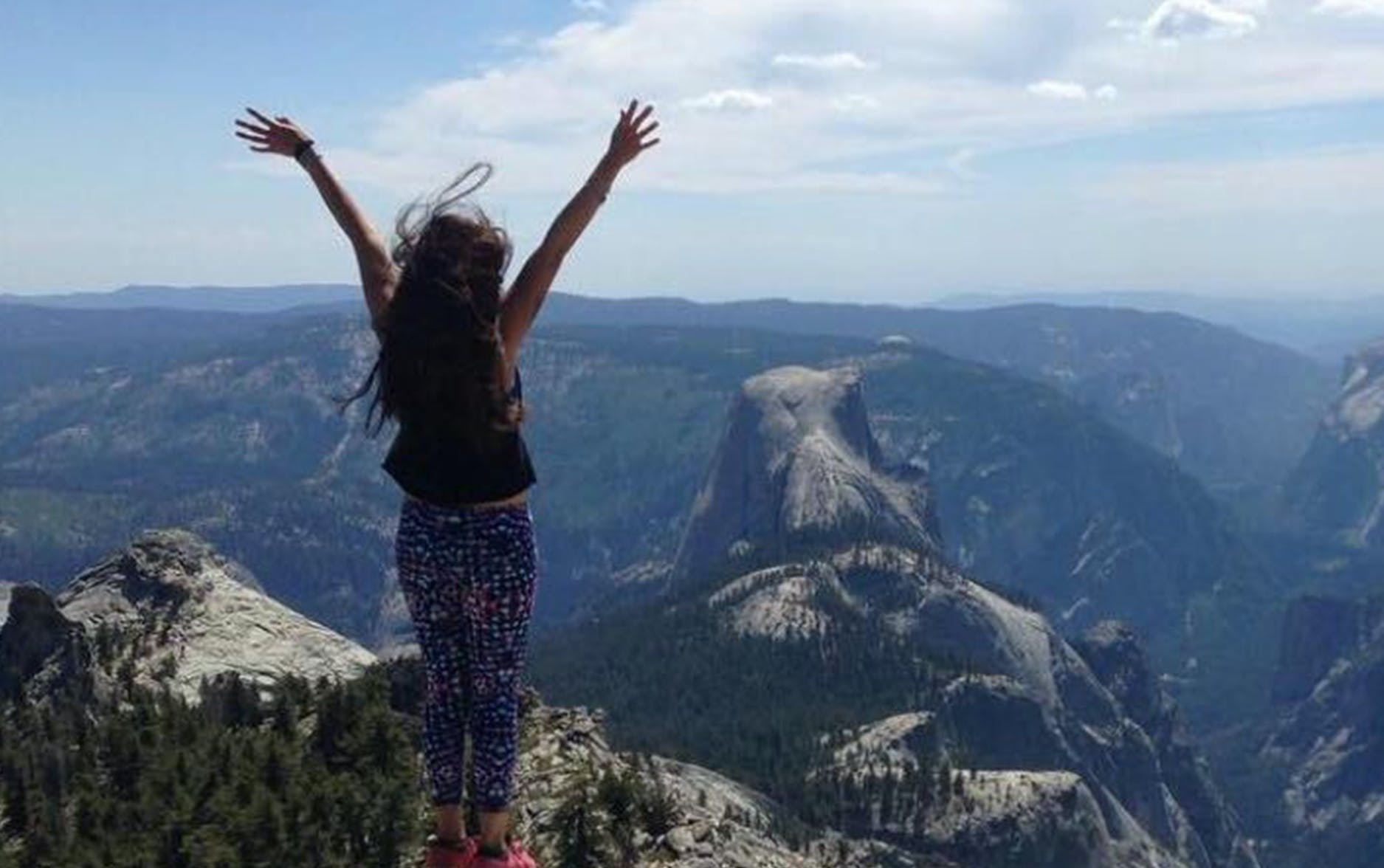 An image of Nancy Thomas at Yosemite. Nancy is Transcend's People Operations Manager.