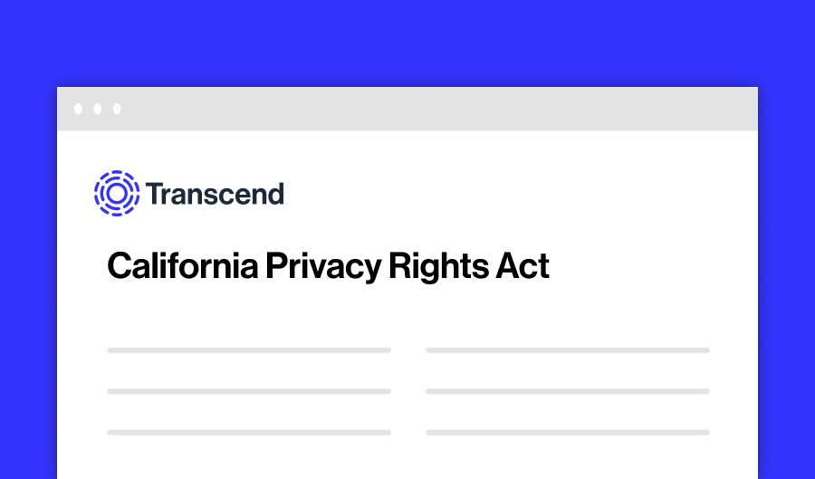 A composite image of a website with the text 'California Privacy Rights Act'