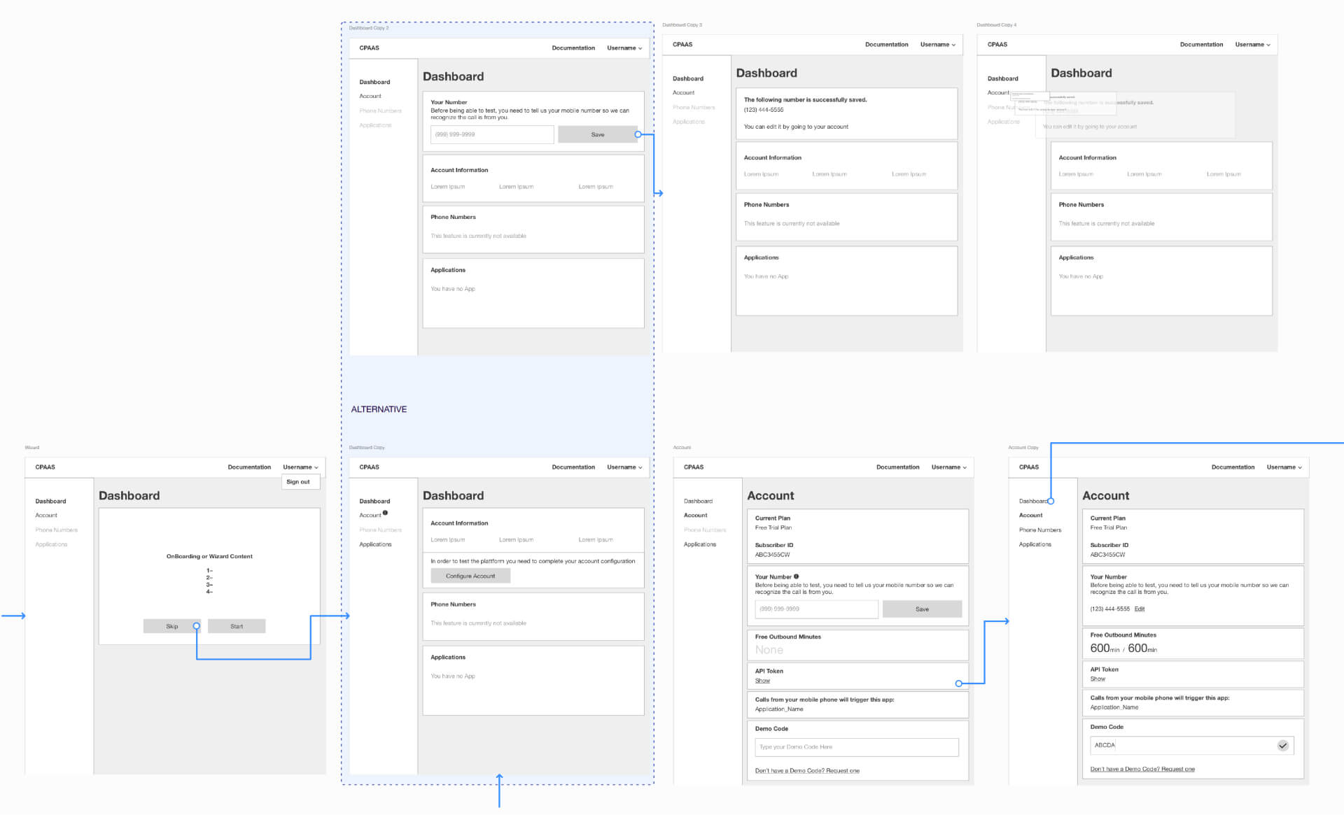 Low-Fidelity Wireframes