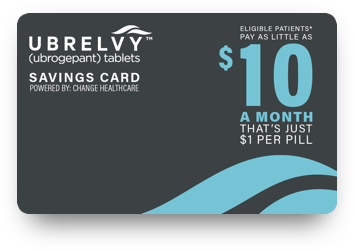 UBRELVY Savings Card Image
