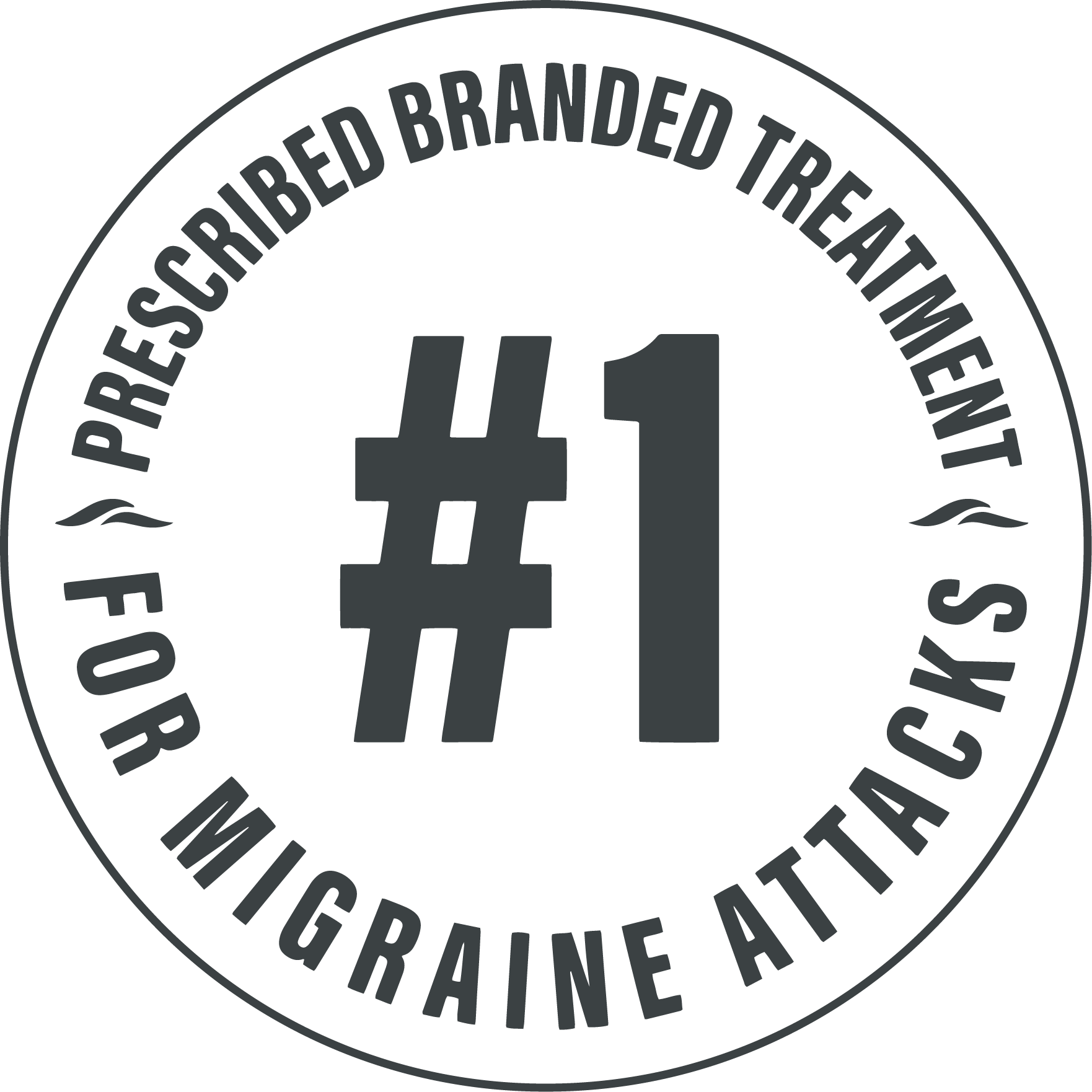 Number 1 prescribed branded treatment for migraine attacks icon