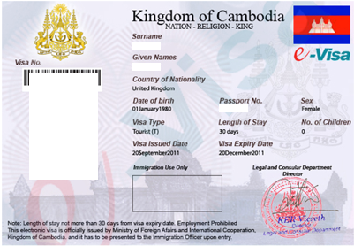 Additional Information on the Cambodia eVisa