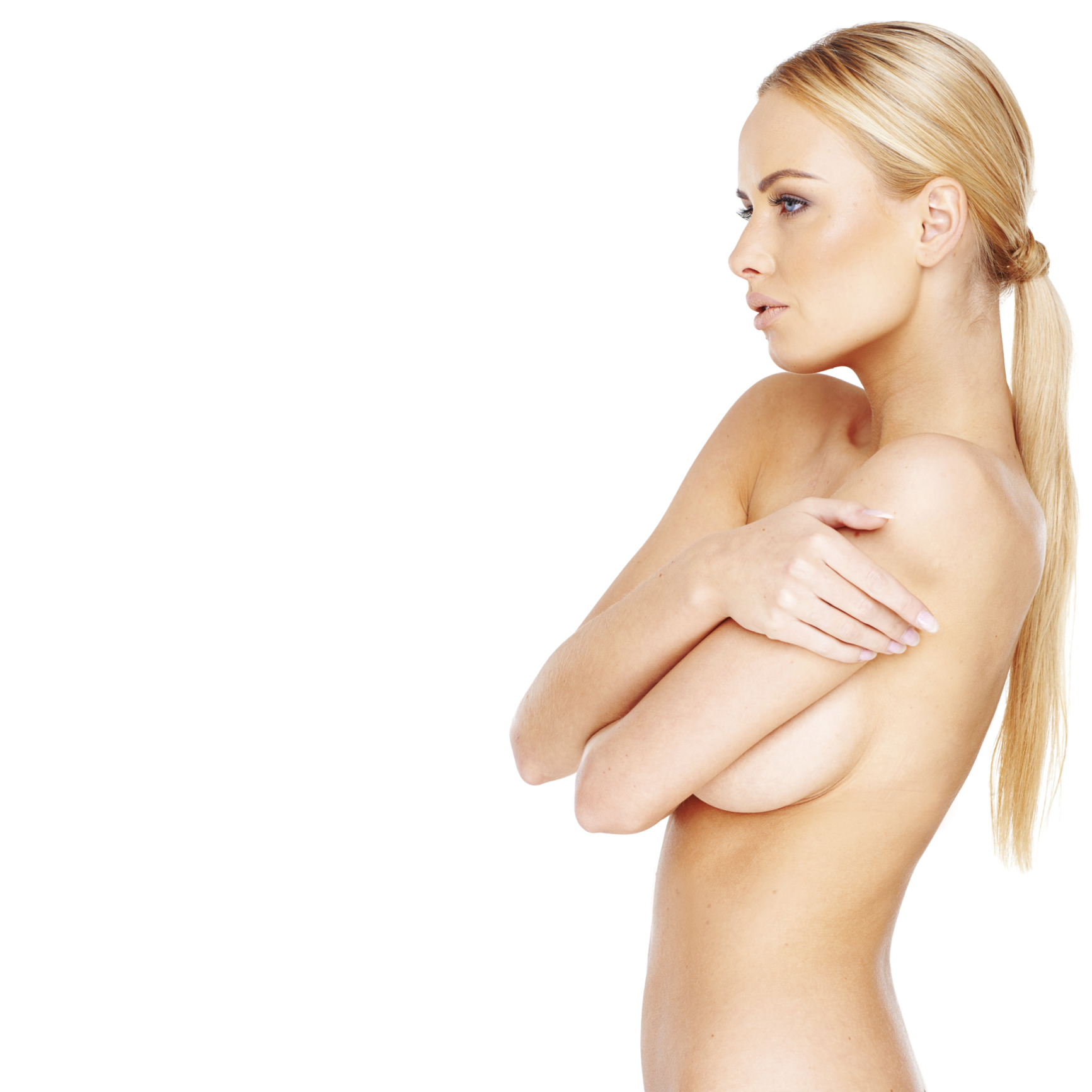 Beautiful nude blond woman