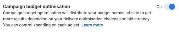 Campaign budget optimisation