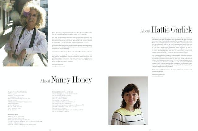 Page 208 - 209: About Nancy Honey & Hattie Garlick