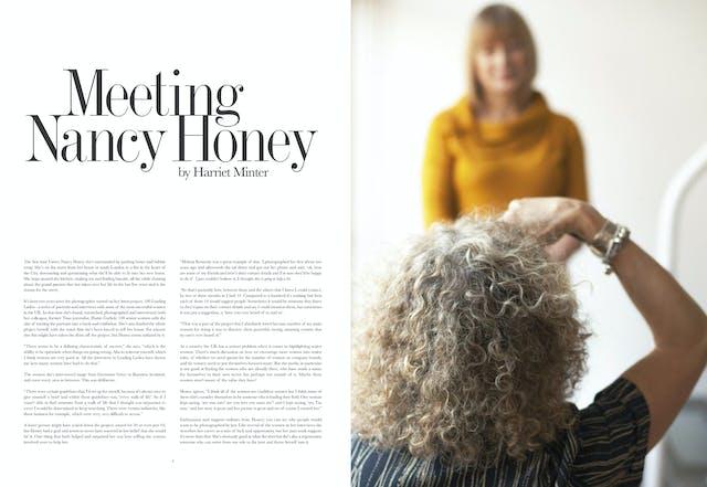 Page 4 - 5:  Meeting Nancy Honey