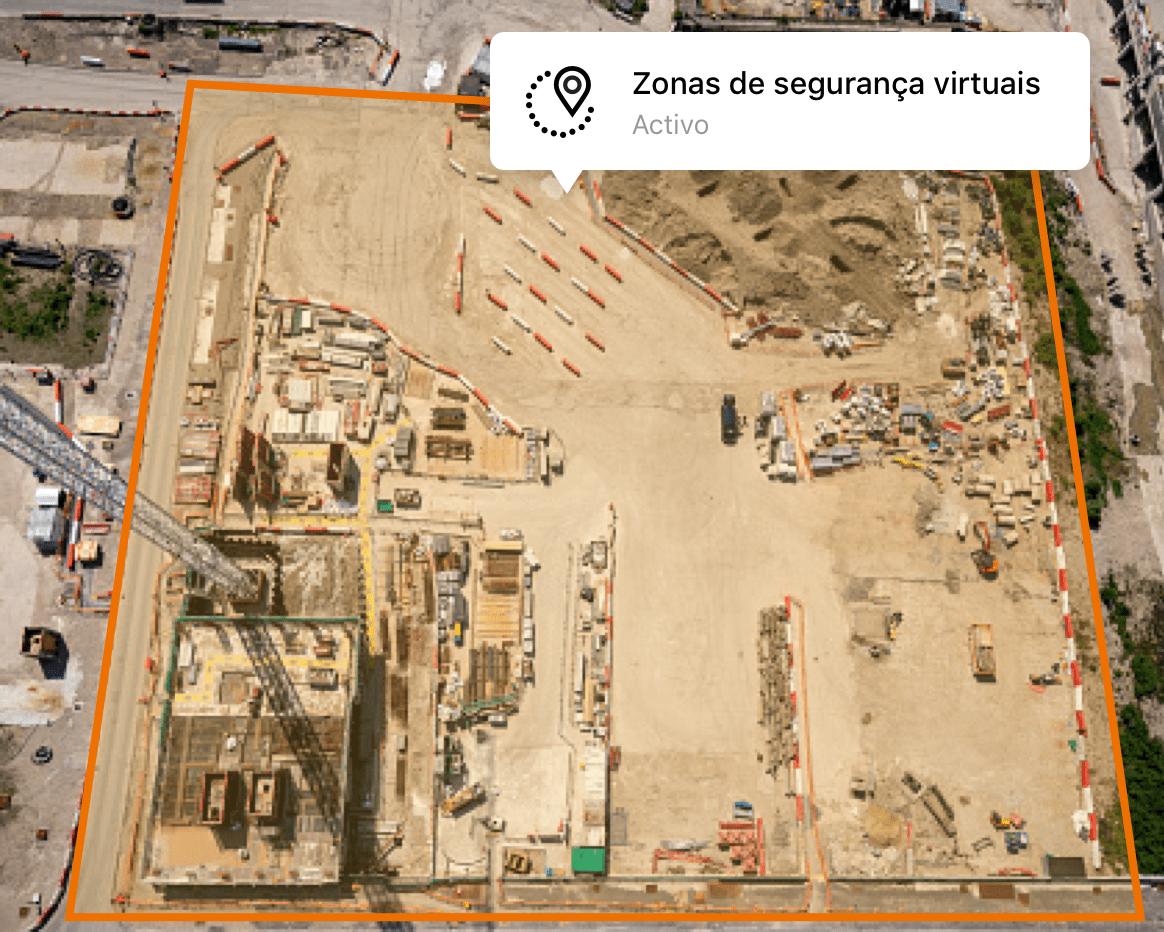 Funcionalidade Zonas de Segurança da solução de localização GPS Verizon Connect Reveal