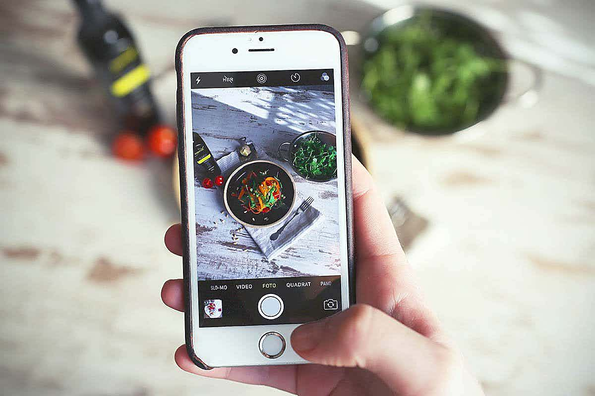 Essen mit Smartphone fotografieren