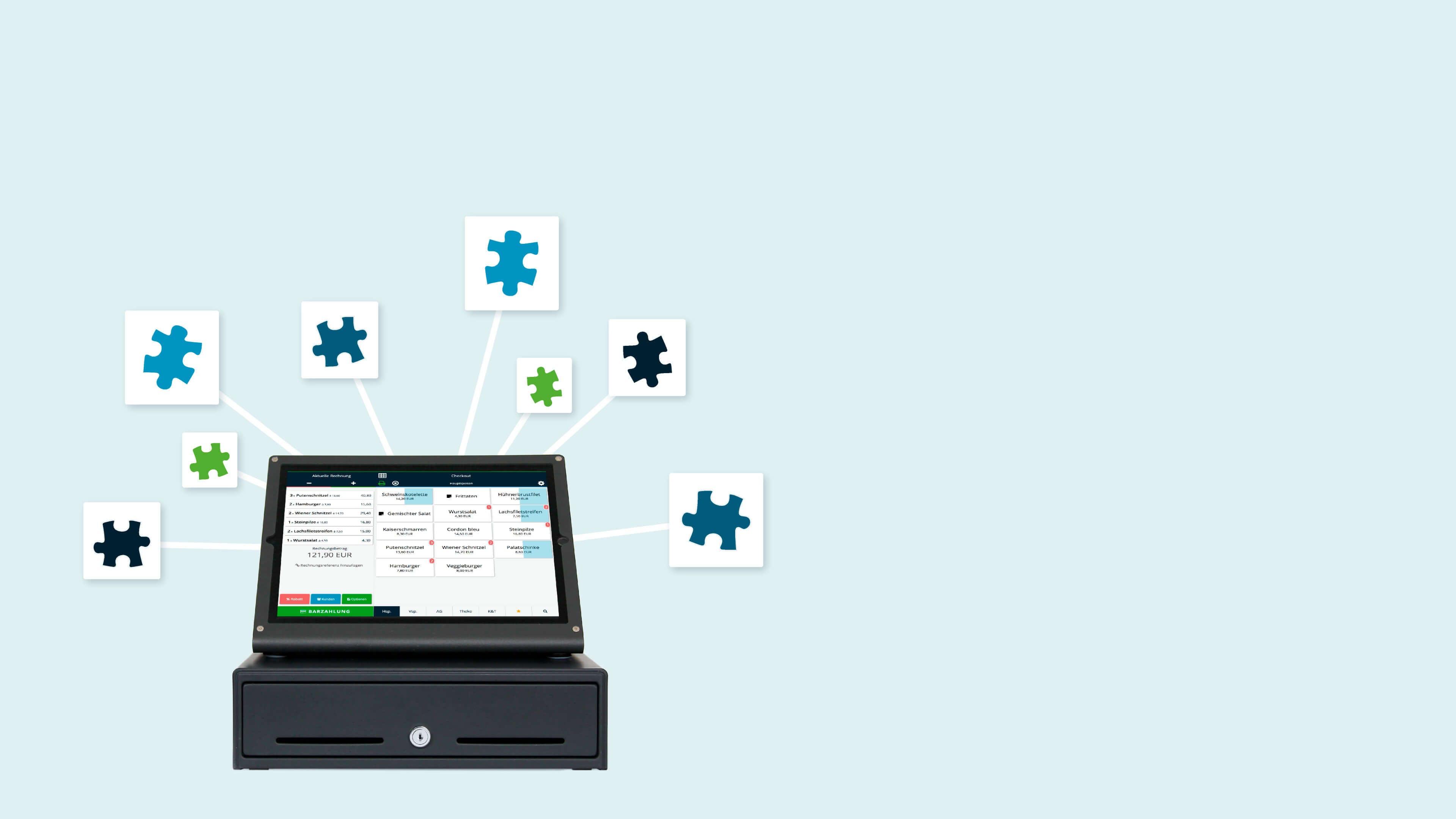 Erweiterungen und Funktionen für Kassensoftware