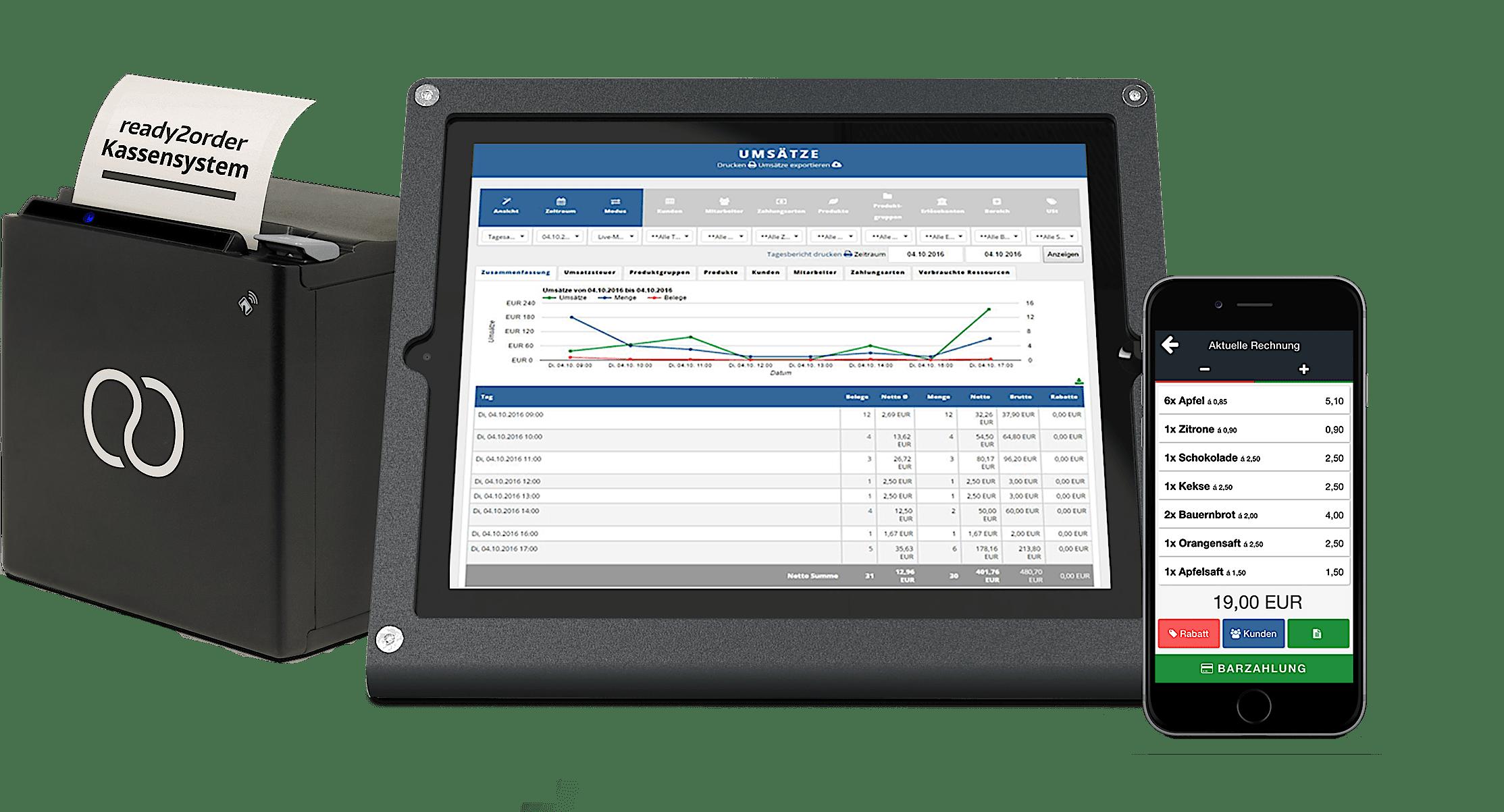 Bondrucker, Tablet und Smartphone