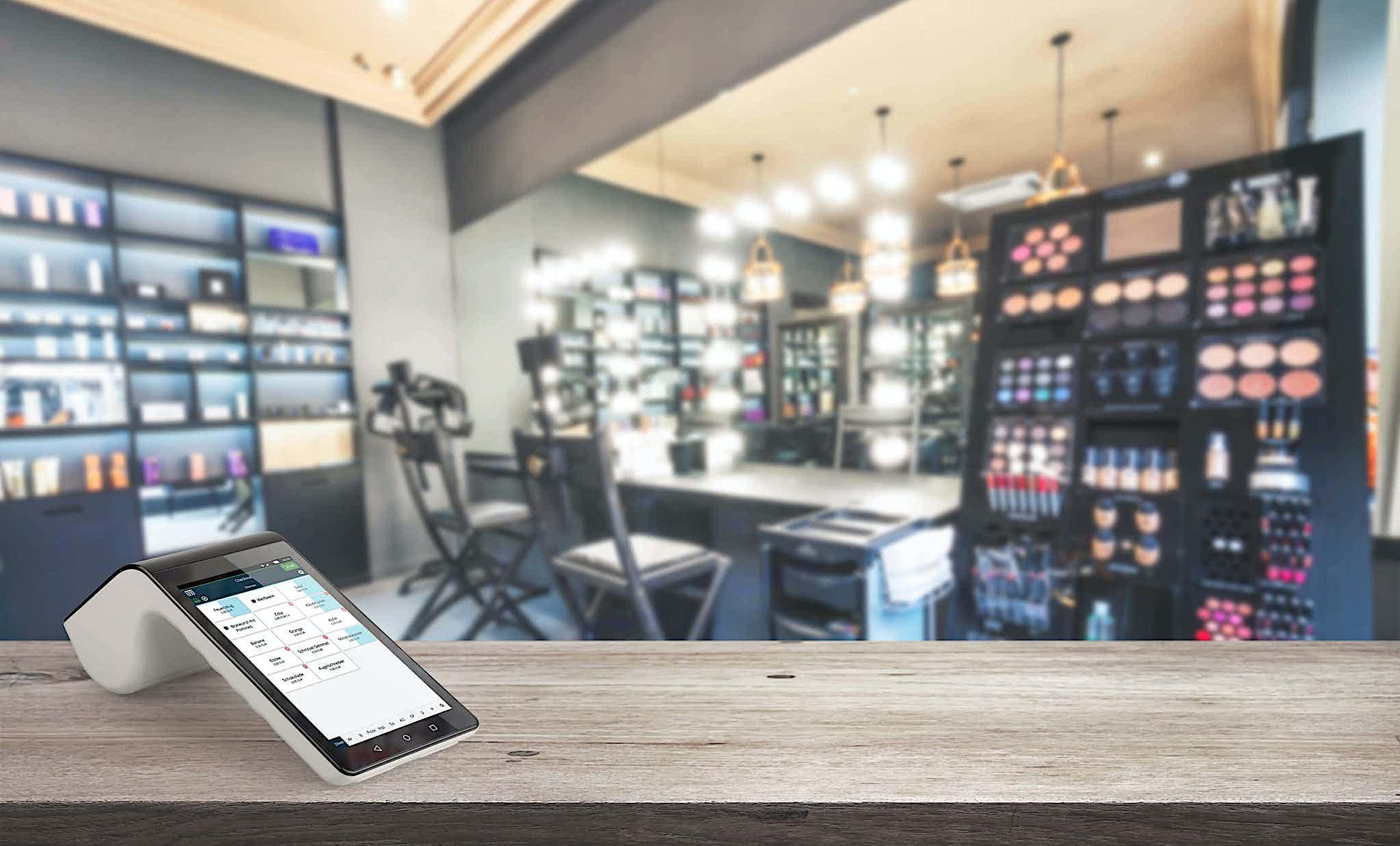 Kassensystem für Kosmetikstudio